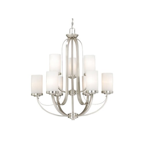 Vaxcel Oxford 9 Light Chandelier