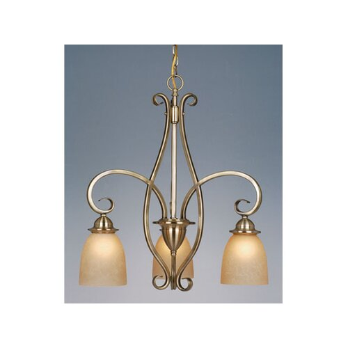 Vaxcel Mont Blanc 3 Light Chandelier