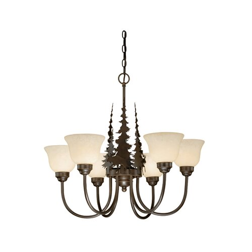 Vaxcel Yellowstone 6 Light Indoor Chandelier