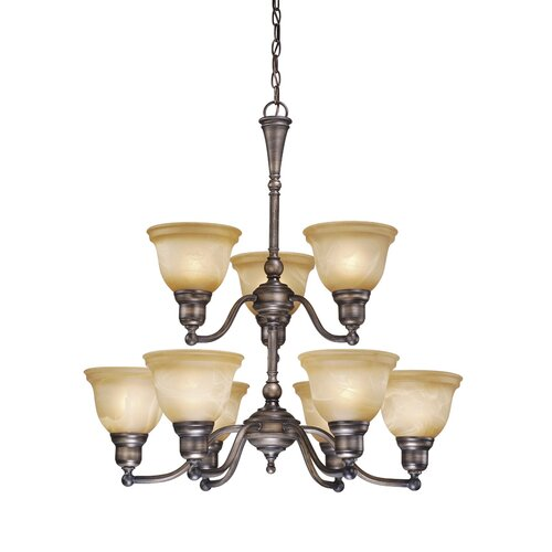 Vaxcel Lasalle 9 Light Chandelier