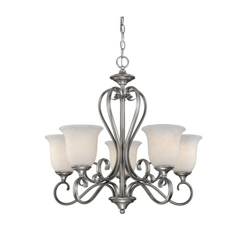 Vaxcel Riviera 5 Light Chandelier