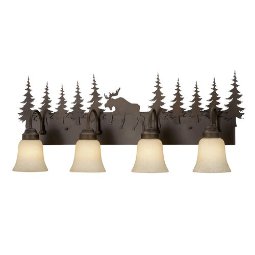 Vaxcel Yellowstone Indoor 4 Light Vanity Light