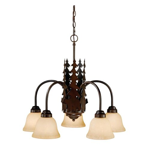 Vaxcel Bozeman 5 Light Chandelier