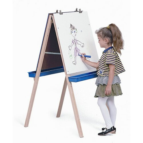 Whitney Brothers Adjustable Easel with Chalk and Write / Wipe Boards