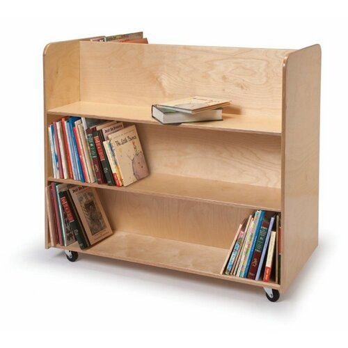 Whitney Brothers Two Sided Mobile Library Cart