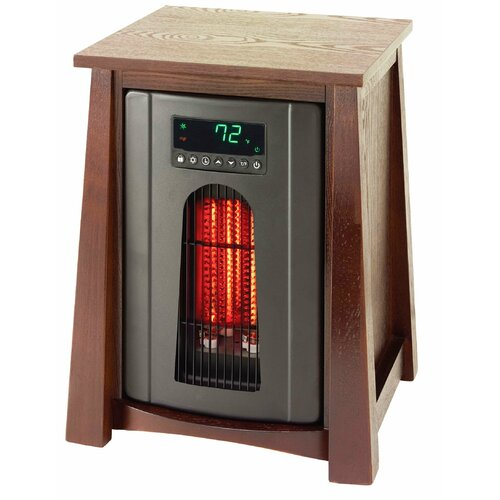 Lifelux 1500 Watt 110 Volt 15 Amp Revolutionary Infrared Electric Heater with Air Ionizer ...