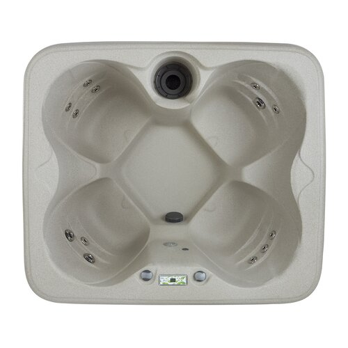 Lifesmart 4 Person 12 Jet Rock Solid Simplicity Plug and Play Spa
