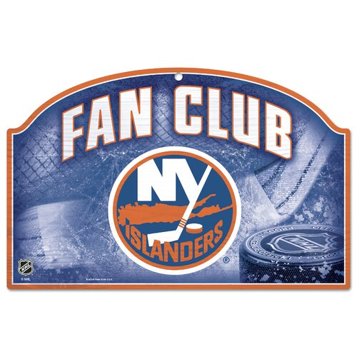 New York Islanders Fan Club Graphic Art Plaque