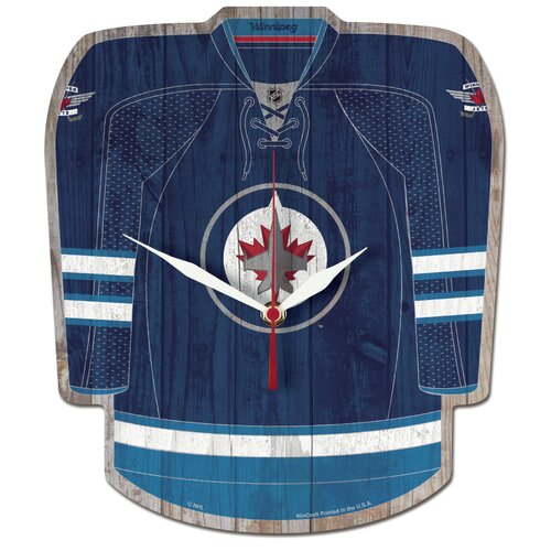 NHL Winnipeg Jets Plaque Wall Clock