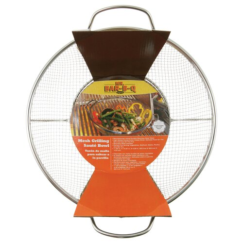 Mr. Bar-B-Q Stainless Steel Mesh Grilling and Saute Bowl