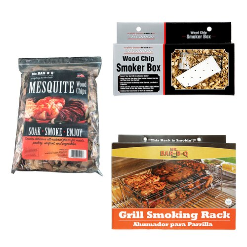 Mr. Bar-B-Q Complete Grill Smoker Kit with Mesquite Wood Chips