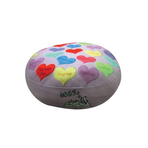 Dogzzzz Round Hearts Dog Pillow