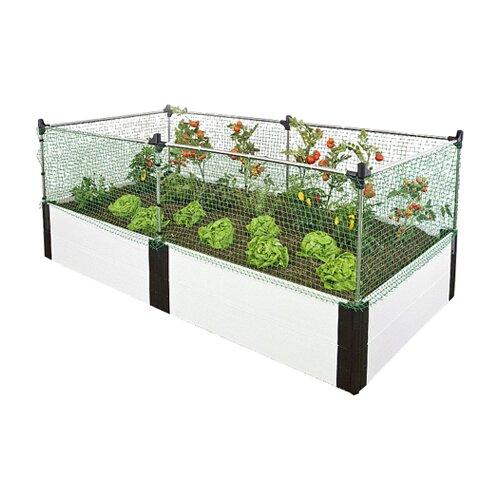 Frame It All Classic White Rectangular Raised Garden