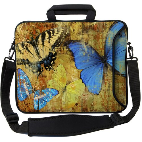 Executive Sleeves Butterflies 2 PC Laptop Bag