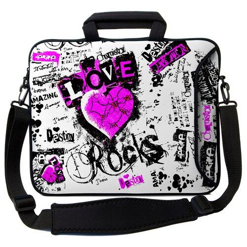 Executive Sleeves Love Rocks PC Laptop Bag
