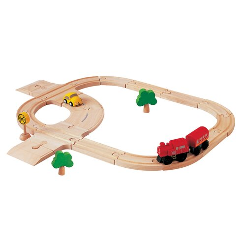 Plan Toys City Road and Rail - Standard