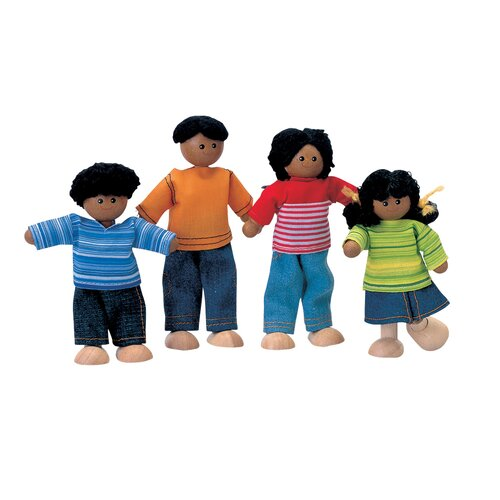 Dollhouse Ethnic Doll Family of 4