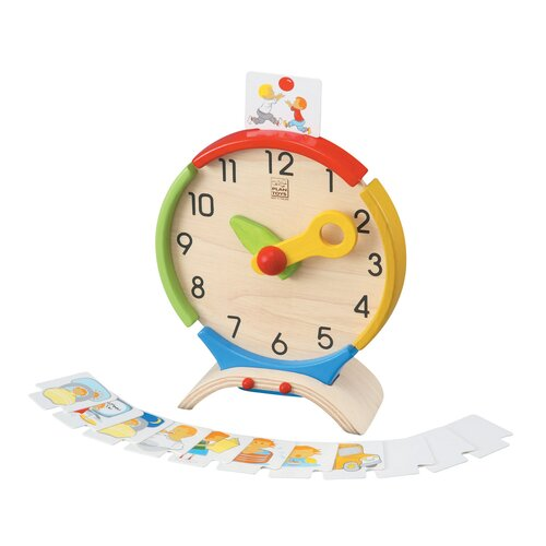 Plan Toys Preschool Activity Clock Set