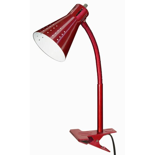"""Nuvo Lighting Goose Neck Clip-On 13"""" H Table Lamp with Empire Shade"""