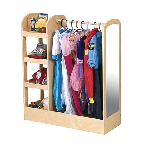 Guidecraft See and Store Dress Up Center in Natural