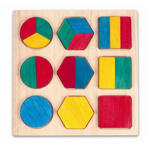 Guidecraft Fraction Action Board
