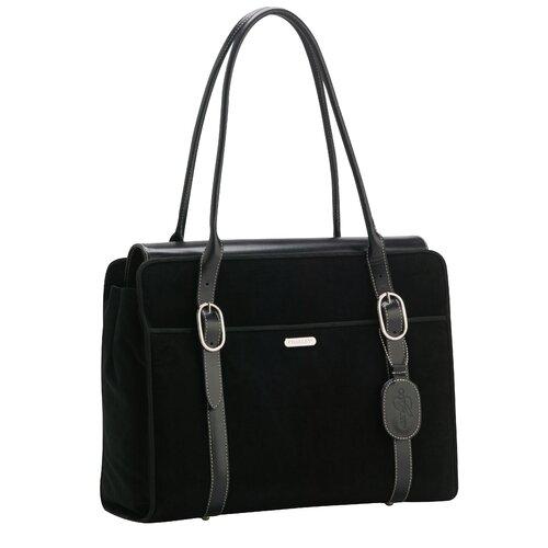 Signature Suede Everyday Laptop Zipper Portfolio Tote Bag