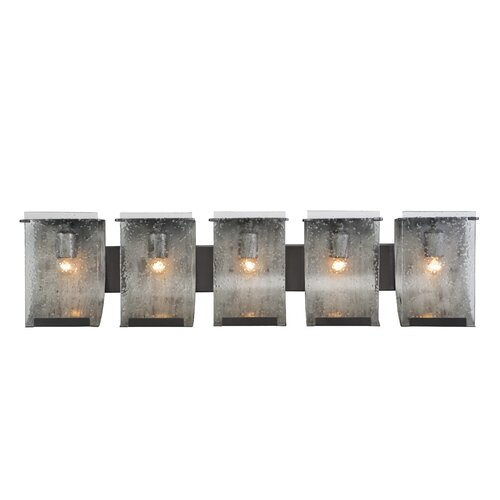 5 Light Bathroom Vanity Light: Varaluz Rain Recycled 5 Light Bath Vanity Light & Reviews