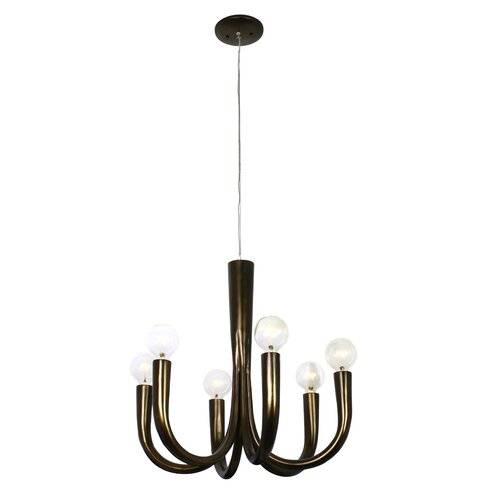 Don Taper 6 Light Chandelier