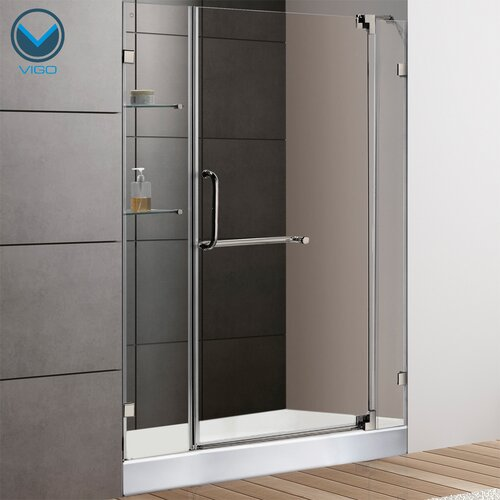 Vigo Frameless Pivot Shower Door