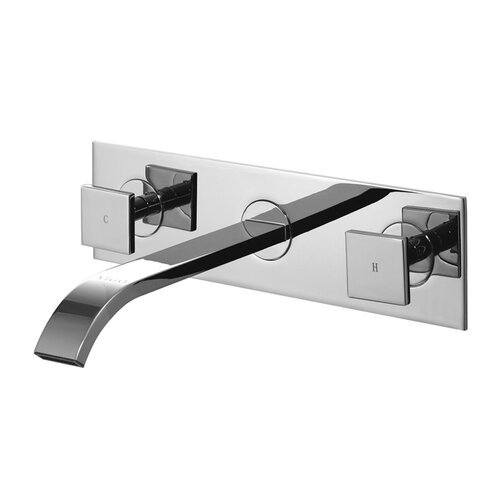 Wall Mounted Bathroom Faucet with Cold and Hot Handles