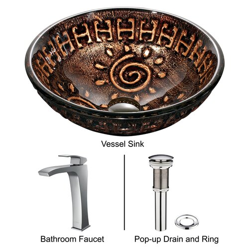 Vigo Aztec Vessel Sink with Faucet