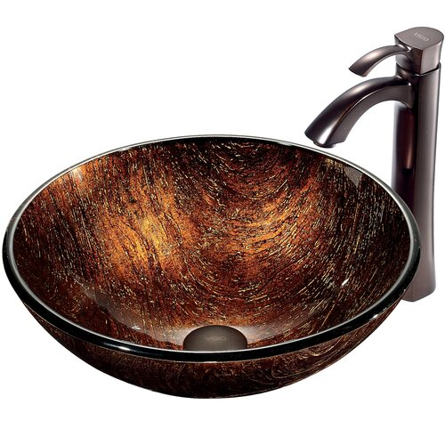 Kenyan Twilight Vessel Sink with Faucet