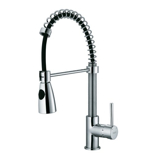 Modern One Handle Single Hole Pull Out Spiral Bar Faucet