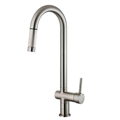 Vigo Savona One Handle Single Hole Pull Out Kitchen Faucet