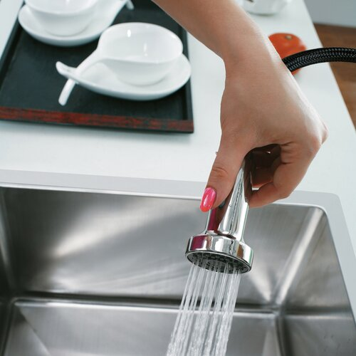 Vigo One Handle Single Hole Pull Out Kitchen Faucet