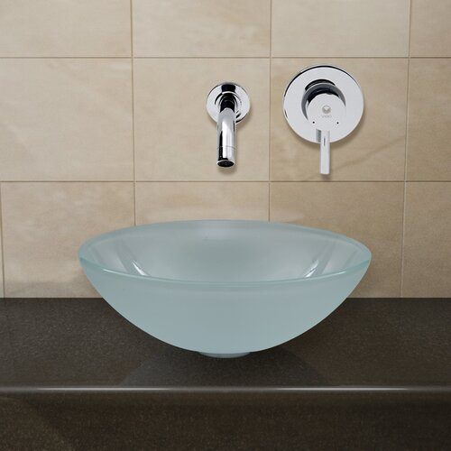 Vigo Vessel Sink with Wall Mount Faucet