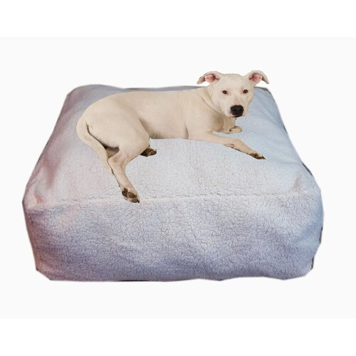 Zoey Tails Cloud Sherpa Pouf Bolster Dog Bed