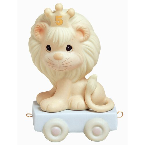 "Precious Moments ""Birthday Train This Day Is Something To Roar About"" Lion Figurine"