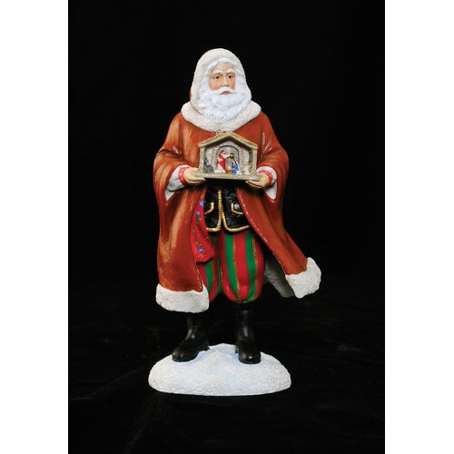 "Precious Moments ""Santa of Poland"" Limited Edition Santa Holding Nativity Figurine"