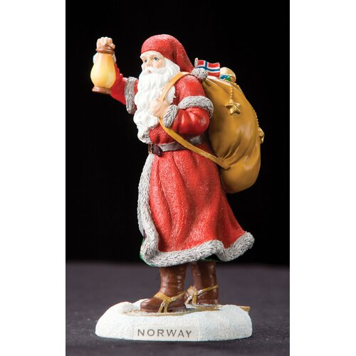 "Precious Moments ""Norway"" Norway Santa Figurine"
