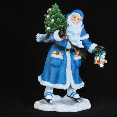 """Precious Moments """"Joy of Skating Santa"""" Limited Edition Santa Skating Figurine"""