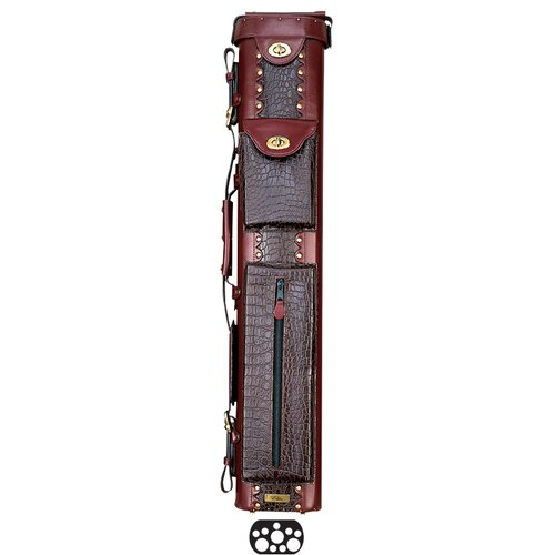 """Elite 34"""" 3 Butt and 7 Shaft Oval Hard Pool Cue Case"""