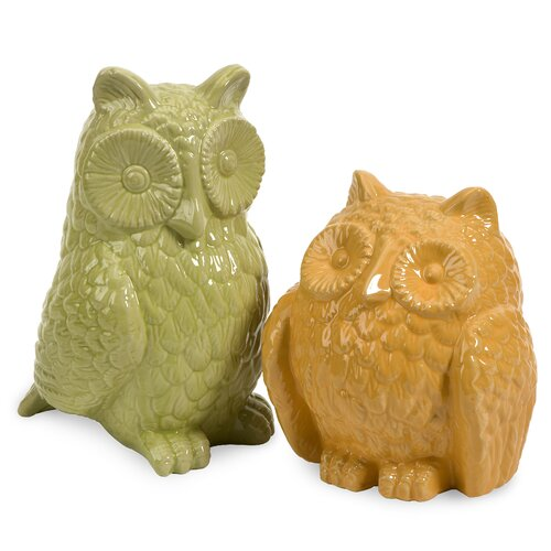2 Piece Spencer Owls Figurine