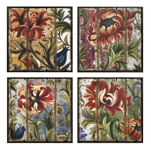 Tressa Framed 4 Piece Painting Print Set