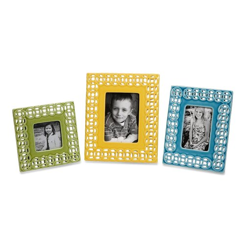 IMAX Links Photo Frames (Set of 3)