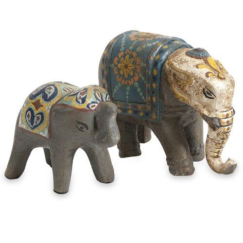 2 Piece Haani Elephant Figurine