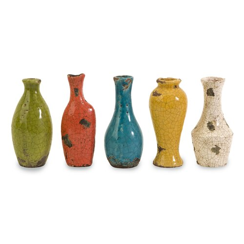 IMAX Mercade 5 Piece Mini Vase Set