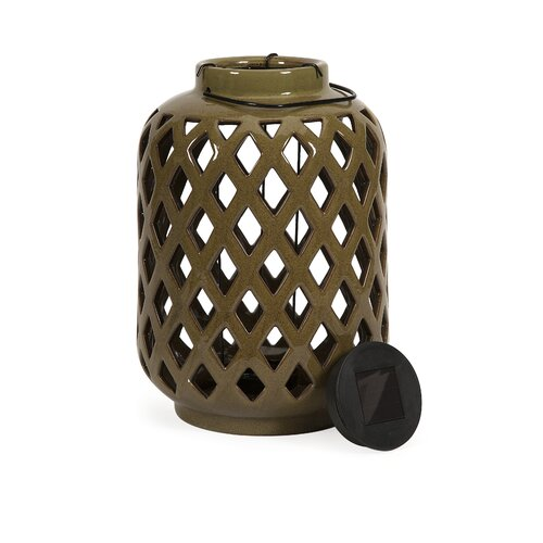 IMAX Jardly Ceramic Candle Lantern