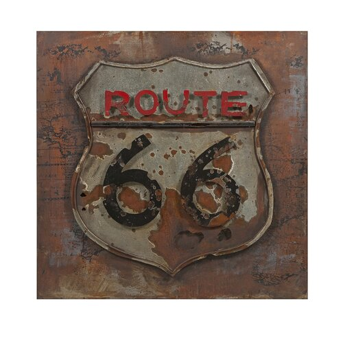 Route 66 Dimensional Metal Art