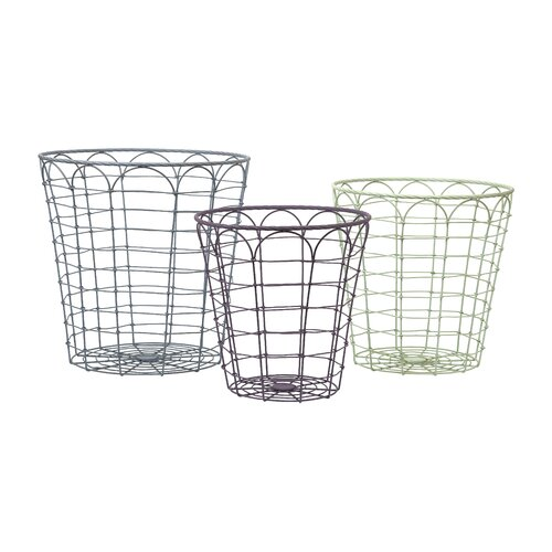 Connor 3 Piece Metal Baskets Set